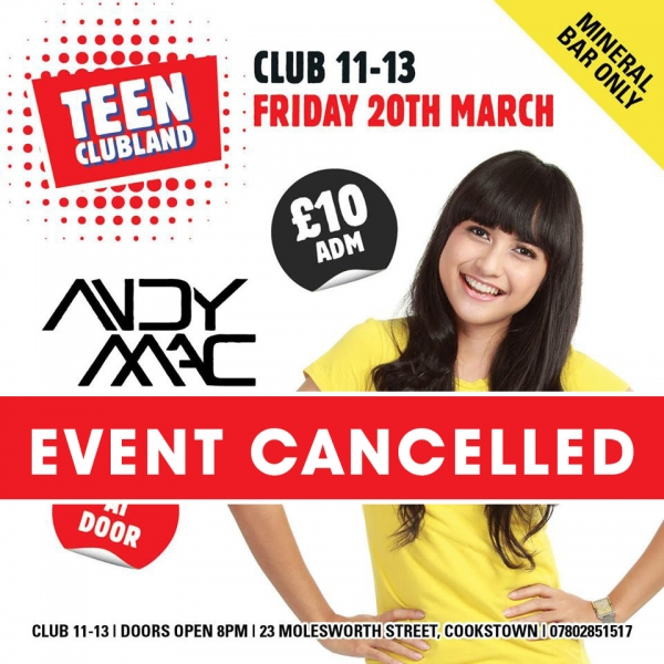 CLUB 11-13  - EVENT CANCELLED