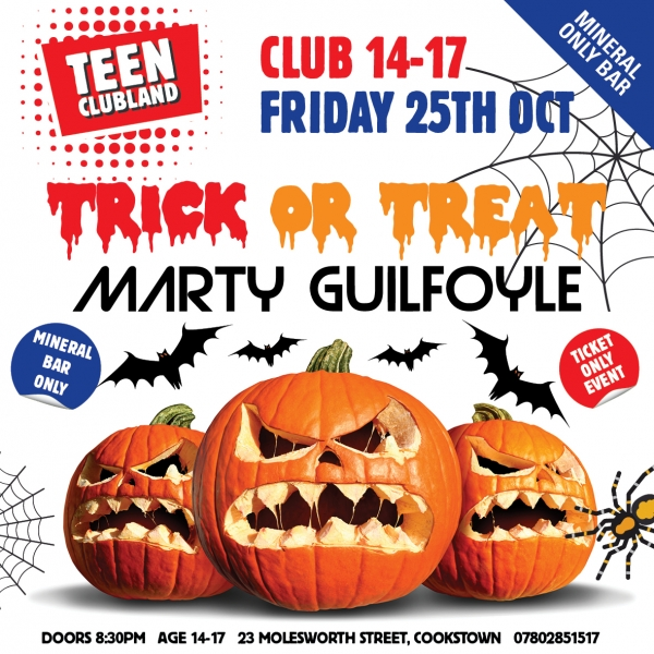 CLUB 14-17 TRICK OR TREAT WITH MARTY GUILFOYLE